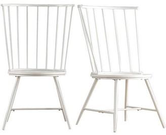 Weston Home Chelsea Lane High Back Windsor Side Chair , Set of 2, Multiple Colors
