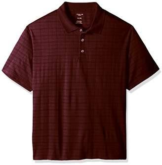 Haggar Men's Short Sleeve Marled Knit Polo