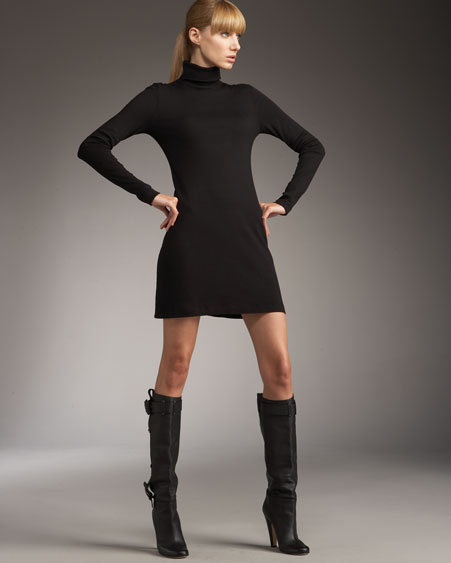 Three Dots Turtleneck Dress