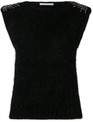 Alberta Ferretti embellished knitted top