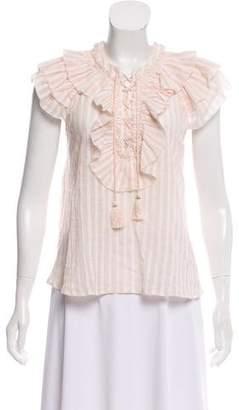Ulla Johnson Ruffled Short Sleeve Blouse