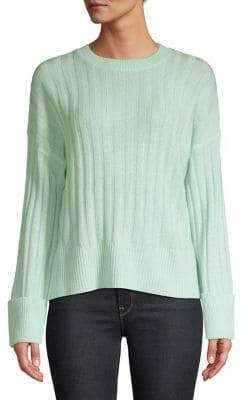 Autumn Cashmere Cuffed Boxy Ribbed Sweater