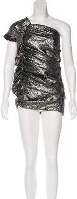 Isabel Marant One-Shoulder Brocade Dress