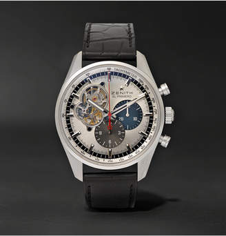 Zenith El Primero Chronomaster 1969 42mm Stainless Steel And Alligator Watch