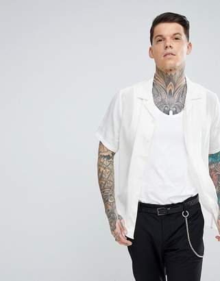 Asos Design Regular Fit Silk Revere Shirt