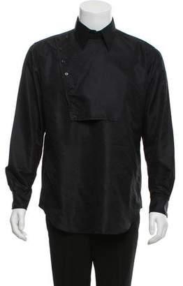 Saint Laurent Silk Pointed Collar Shirt