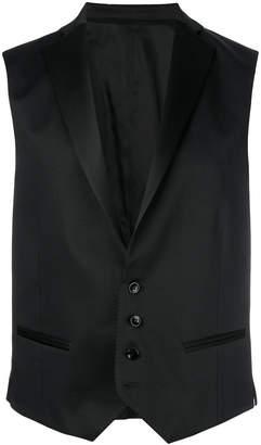 Tonello satin lapel waistcoat