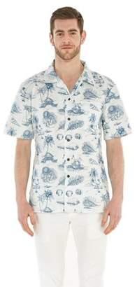 Hawaii Hangover Men's Hawaiian Shirt Aloha Shirt Vintage Tropical Toile White