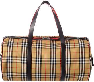 Burberry Large Vintage Check Leather Barrel Bag