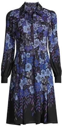 Elie Tahari Hellen Floral Shirtdress