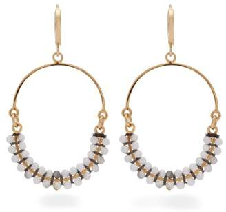 Isabel Marant Tropical Beaded Hoop Drop Earrings - Womens - White