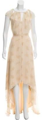 Elizabeth and James Silk Maxi Dress Beige Silk Maxi Dress