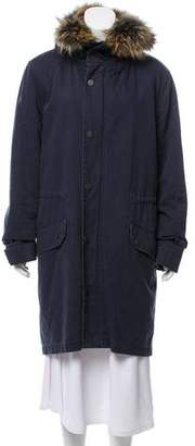 Yves Salomon Fur-Lined Parka Coat