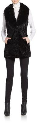 Textured Faux Fur Vest $159 thestylecure.com