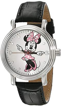 Disney Women's W001875 Minnie Mouse Analog Display Analog Quartz Black Watch