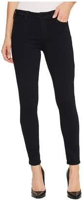 Liverpool Abby Skinny Jeans in Soft Silky Denim in Indigo Overdye Black Women's Jeans