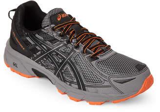 Asics Grey & Black GEL-Venture 6 Running Sneakers