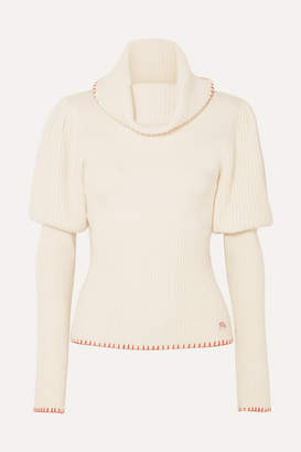 J.W.Anderson Ribbed-knit Turtleneck Sweater - Cream