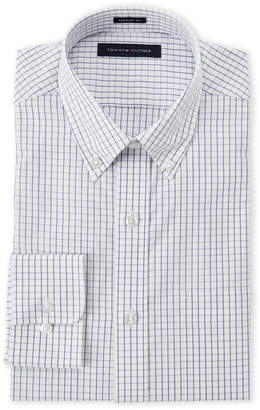 Tommy Hilfiger White Checked Regular Fit Shirt