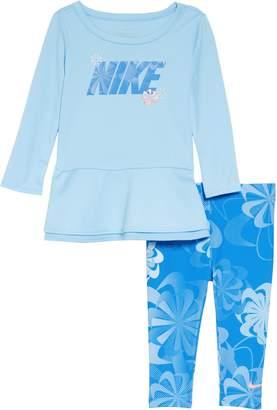 Nike Swoosh Peplum Tunic & Leggings Set
