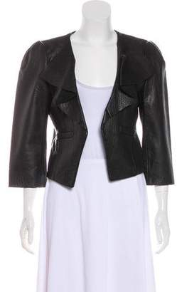Tibi Lightweight Leather Jacket