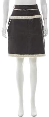 Chanel Paris-Dallas Shearling Skirt w/ Tags