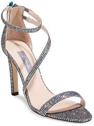 Sarah Jessica Parker Serpentine Glitter High Heel Sandals