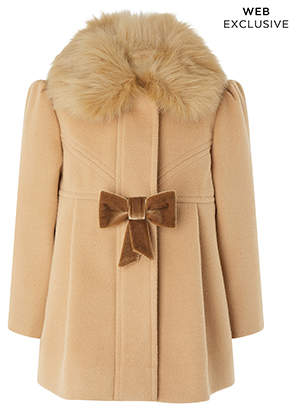 Monsoon Baby Connie Camel Coat