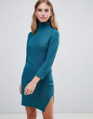 Brave Soul mandy roll neck sweater dress