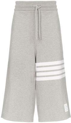 Thom Browne 4-Bar oversized cropped cotton sweatpants