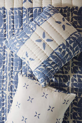 Anthropologie Artisan Quilts by Block-Printed Gila Euro Sham