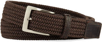 W.KLEINBERG W. Kleinberg Men's Sport Stretch Belt with Crocodile-Trim