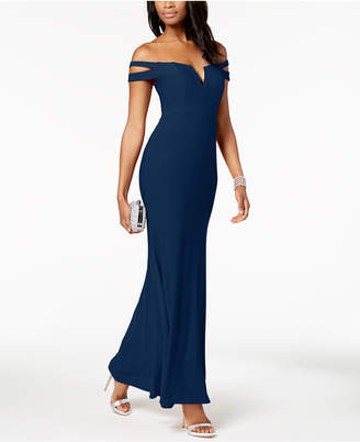 Xscape Evenings Cold-Shoulder Gown in Missy & Petite Sizes
