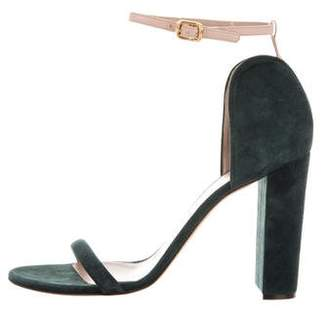 Chloé Suede Round-Toe Sandals