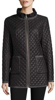 Jane Post Quilted Satin Jacket
