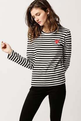fa70fd9ff47c5 Comme Des Garcons Play Striped Tee - ShopStyle