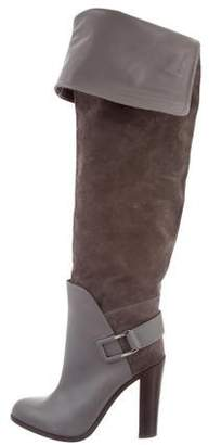 Sergio Rossi Saddle Suede Boots w/ Tags