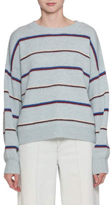 Etoile Isabel Marant Gatlin Striped Alpaca-Wool Pullover Sweater