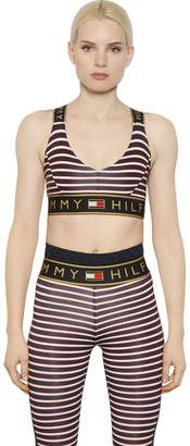 Tommy Hilfiger Tommy Striped Microfiber Sports Bra Top