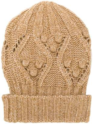 Twin-Set cable knit beanie