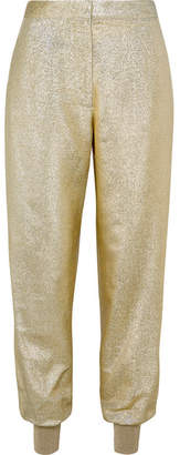 Stella McCartney Lamé Tapered Pants - Gold