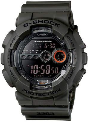 G-Shock Men's Digital Green Resin Strap Watch 51mm