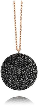 Astley Clarke Large Icon Black Diamond Pendant Necklace