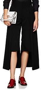 Noir Kei Ninomiya Women's Asymmetric Faille Wide-Leg Trousers - Black