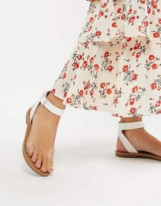 clear Asos Design ASOS DESIGN Favourite Flat Sandals