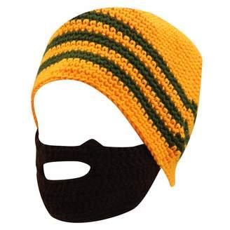 1d31a298445 eYourlife2012 Unisex Winter Crochet Beard Beanie Mustache Mask Face Ski Hat  Cap