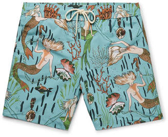Loewe + Paula's Ibiza Mid-Length Mermaid-Print Swim Shorts