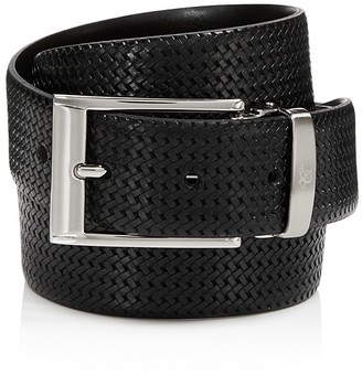 Canali Reversible Braided Leather Belt $235 thestylecure.com