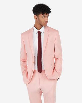 Express Extra Slim Coral Stripe Stretch Suit Jacket