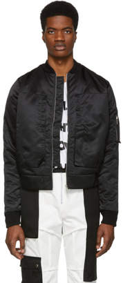 S.P. Badu Black Six-Pocket Bomber Jacket